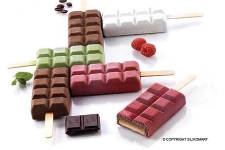 Silikonform Schokoladen Eis Oder Kuchen Am Stiel Online Kaufen