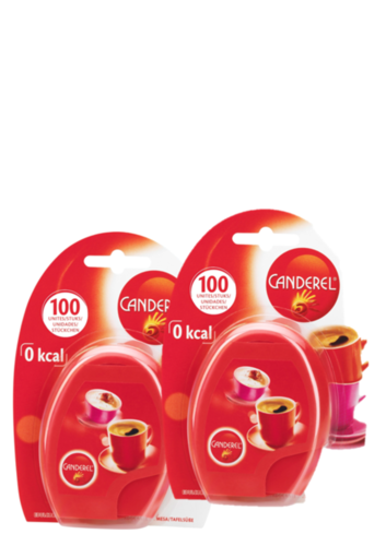 Double Pack Canderel Bag Dispenser with 2 x 100 Sweetener Tabs