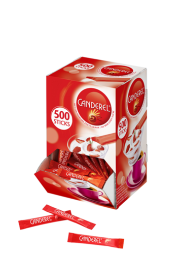 Canderel sprinkling nuts box with 500 sticks