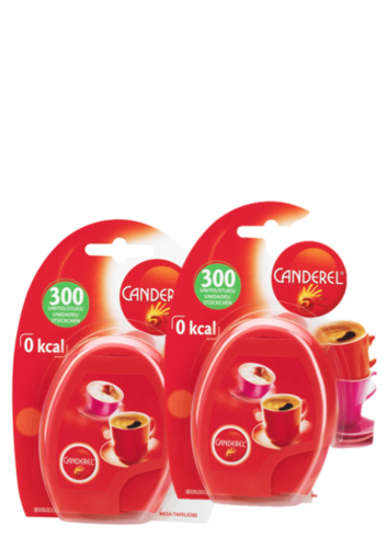 Double Pack Canderel Dispenser with 2 x 300 Sweetener Tabs